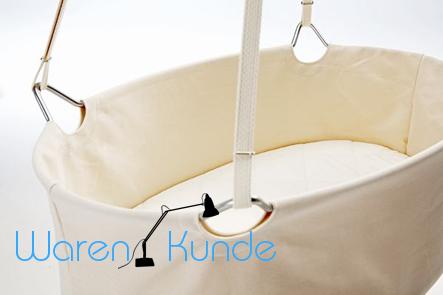 leander wiege set babywiege matratze und himmel ebay. Black Bedroom Furniture Sets. Home Design Ideas